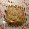 Gratin de pâtes à l'emmental et au jambon (cyril lignac)