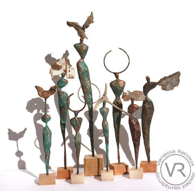 8sculptures_papier_bronze_coiffes_vanessarenoux2018