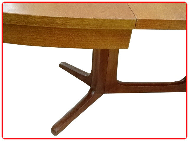 table vintage scandinave 1960 teck