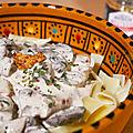 Tagliatelles et champignons sauce crème et moutarde (le comptoir de mathilde)