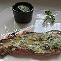 Côtes de porc et courgette fermiers sauce oseille du jardin et livarot aop