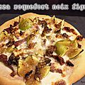 Pizza roquefort noix figue