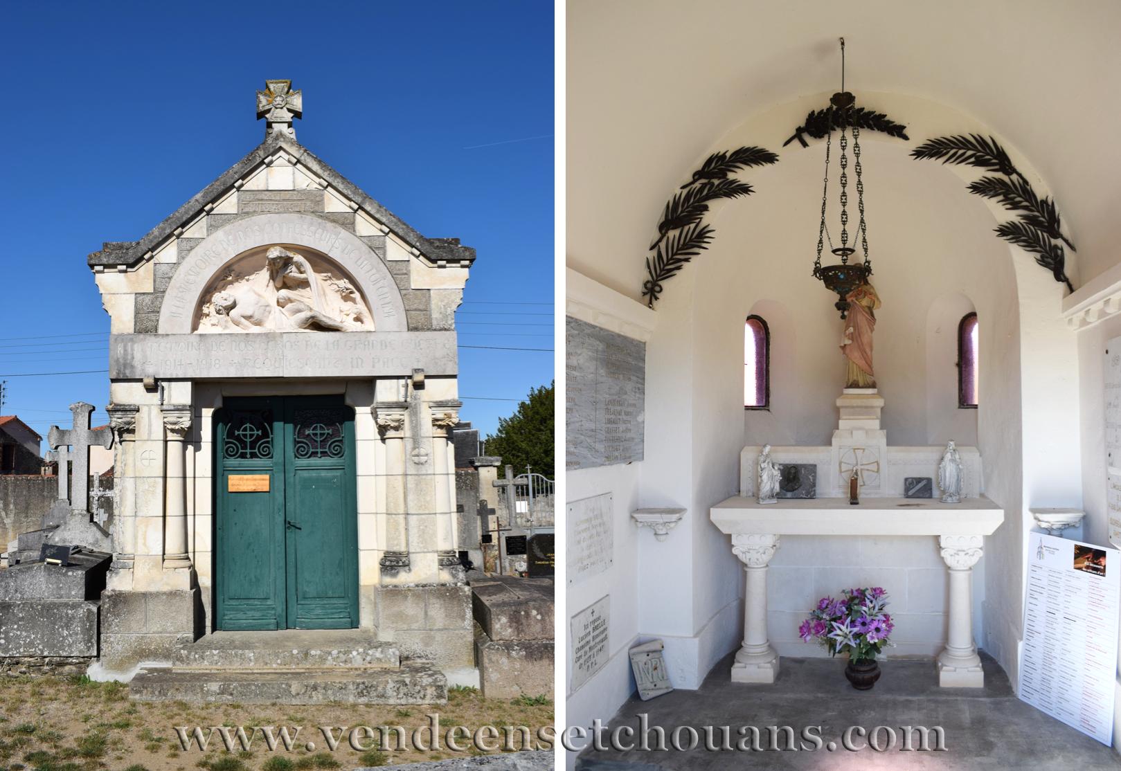 Un monument aux morts de toutes les guerres… même celle de la Vendée