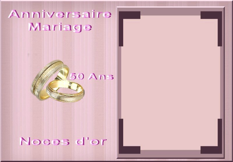 noces d'or cadre