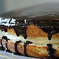 Boston cream pie- gâteau boston-bostońskie ciasto przekładane