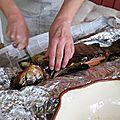 Puumala, saumon découpé par Riitta