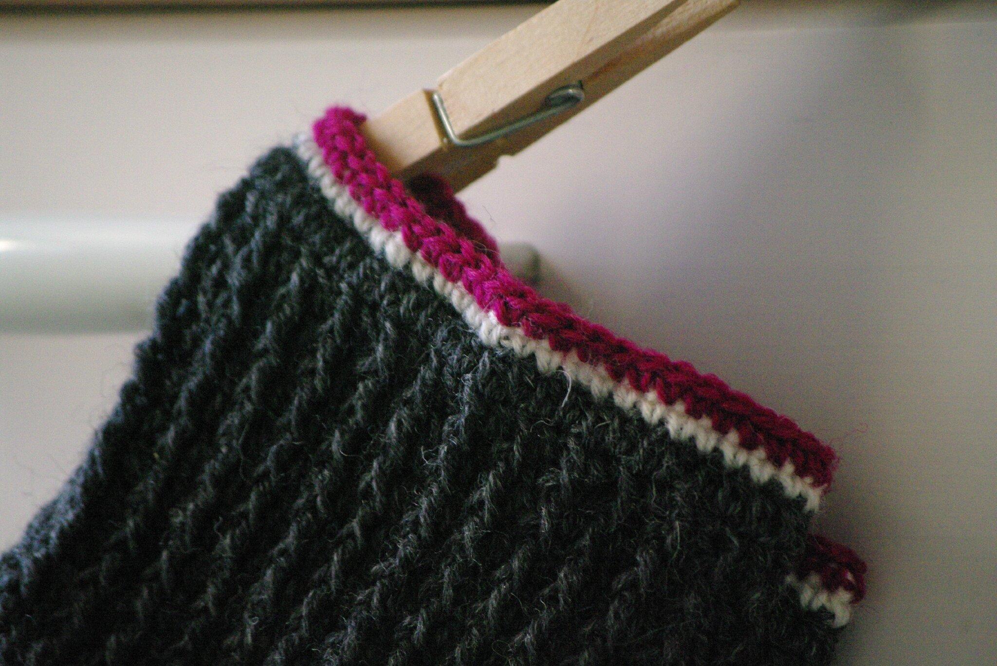 bordure chaussette au crochet