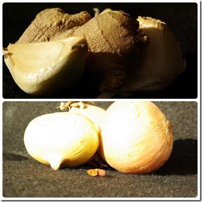 gingembre oignon ail