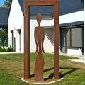 Porte de la Connaissance - 2012 - Acier - 245x110cm. Commande publique de Dourdain- 35