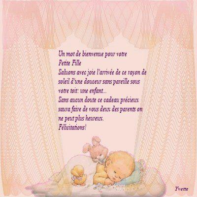 Poeme felicitation naissance petite fille