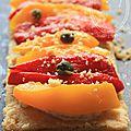 La recette des tartelettes aux deux poivrons et brousse en video
