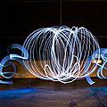 Lightpainting : carosse de cendrillon
