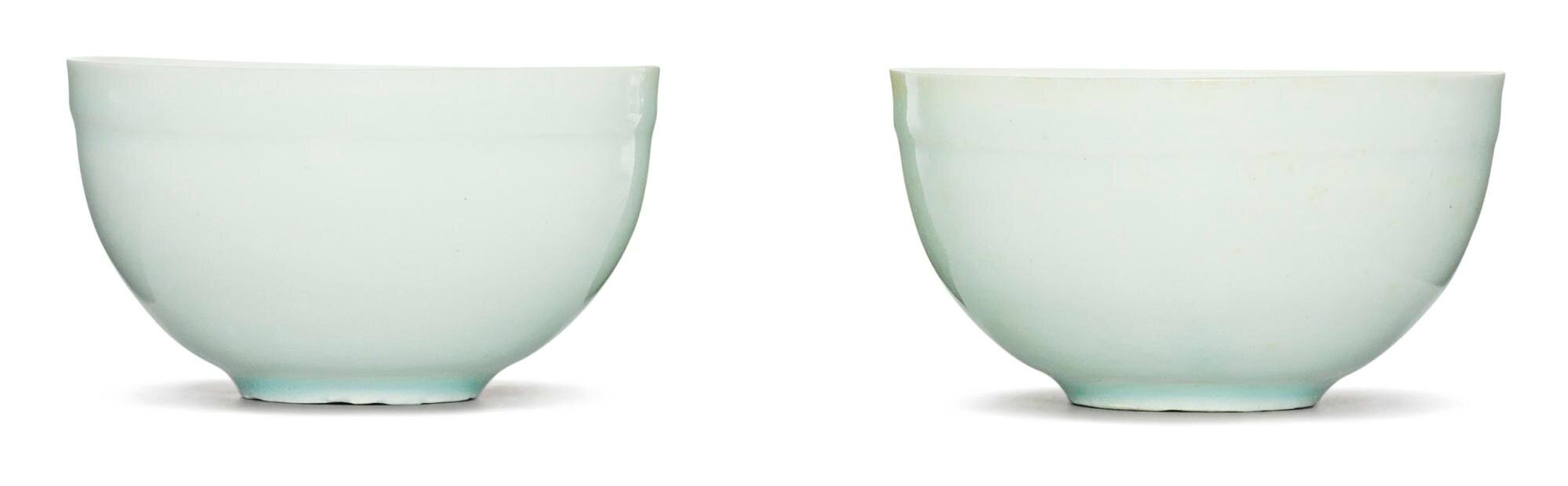 A pair of 'Qingbai' cups, Song Dynasty