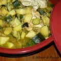 Tajine de poulet au citron confit et aux courgettes (7 pp)