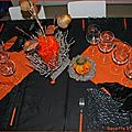Table d' halloween