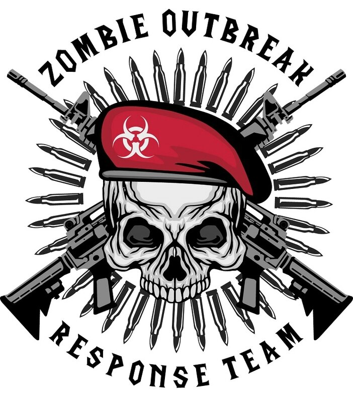 Zombie - zombie outbreak - Zombie party - Zombie response - Zombie hunter - Zombie team - biohazard - Printables - labels - Halloween - Airbone - Special force - Delta force - decal
