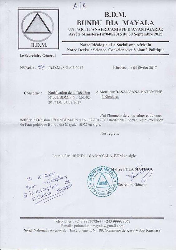 EXCLUSION BASANGANA BATOMENE