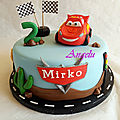 Gâteau cars - flash mcqueen cake