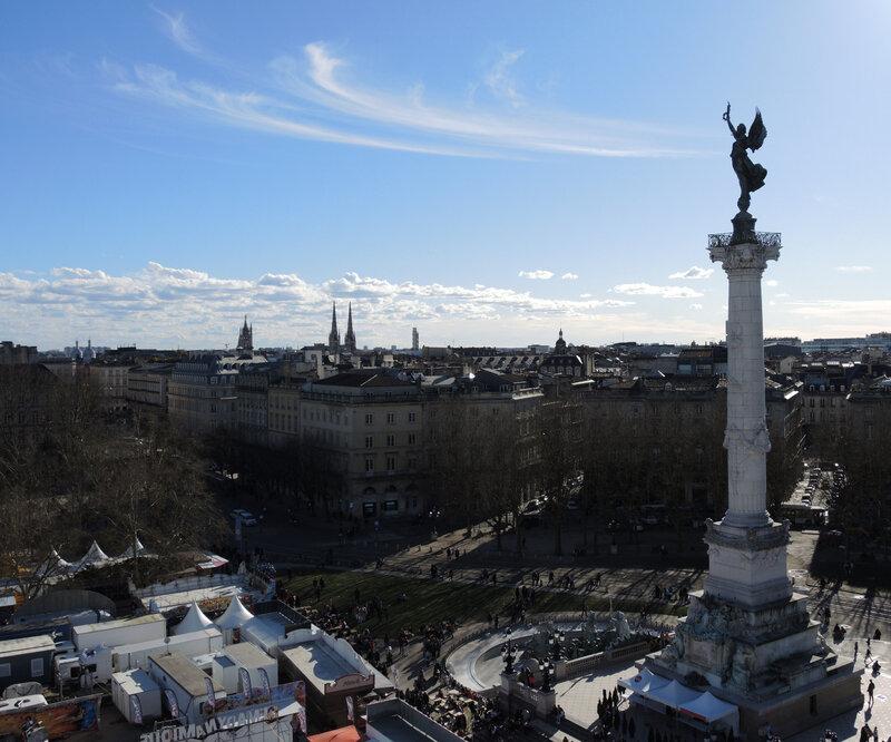 Bordeaux, Place des Quinconces, vue de la grande roue (33)