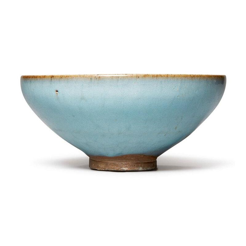 A purple-splashed 'Jun' bowl, Jin-Yuan dynasty (1115-1368)