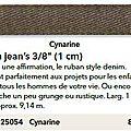 p106 ruban jean cynarine