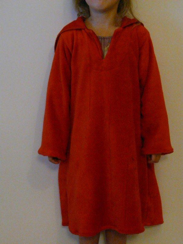 Burnous en robe de chambre je couds citronille - Robes de chambre enfants ...