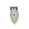 Platinum, gold, turquoise, sapphire and enamel clip-brooch, cartier