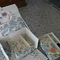 intérieur boîte à couture, vendue vide, à partir de 50€, sur commande