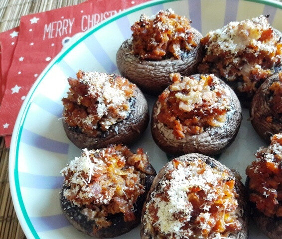 champignons farcis aux 2 jambons (4)
