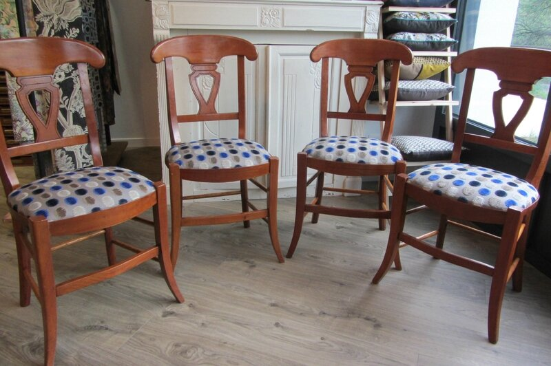 chaises retapissées avec le zelda Osborne