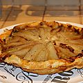 Tarte tatin endives - bacon - chevre