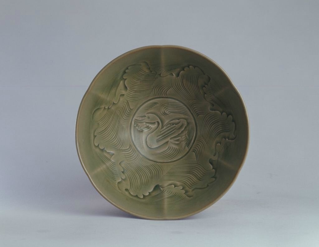 A Yaozhou carved 'Duck' bowl, Song dynasty, high 7
