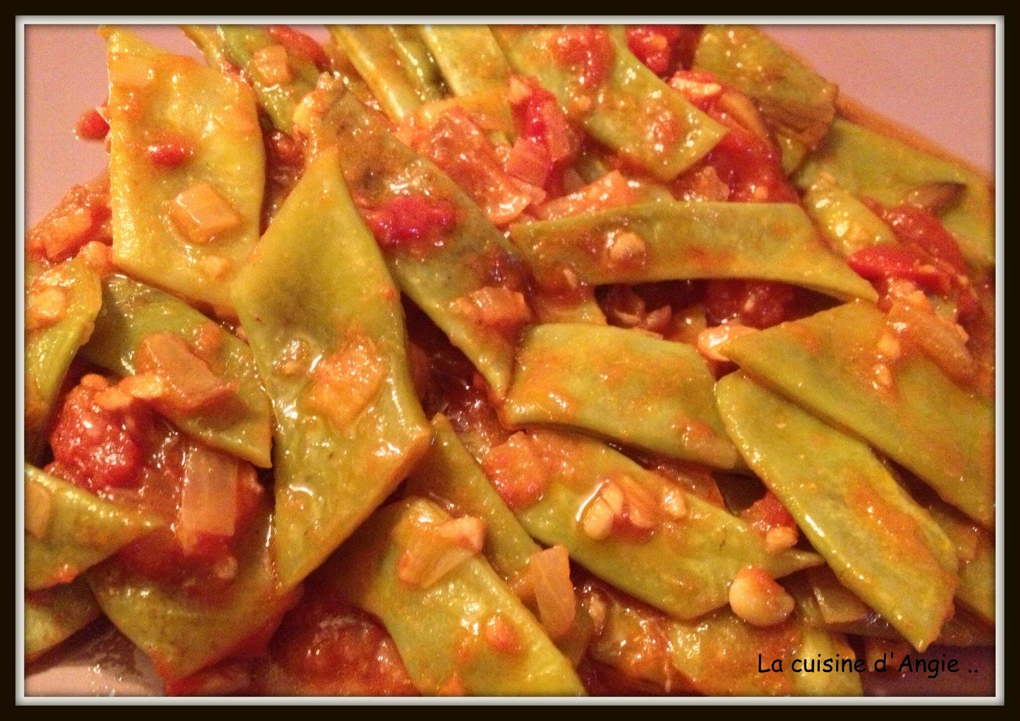 Haricots plats à la libanaise