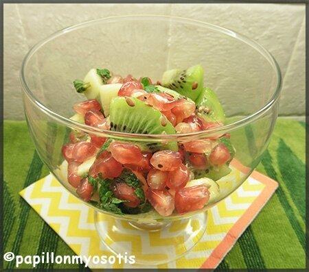 salade de fruits pour l'hiver