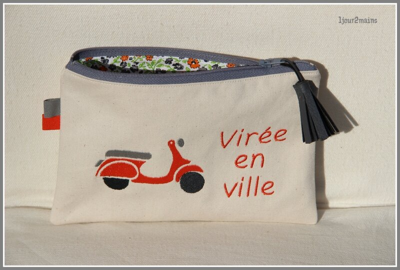 trousse scooter orange