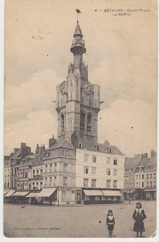 CPA, Béthune, Grand'Place le Beffroi