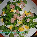 Salade verte jambon