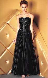 robe soirée noire T 46
