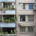 Vue depuis nos chambres d'hôtel en Chine