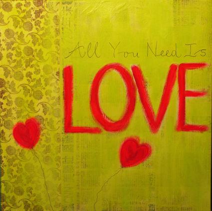 All you need is love/vert anis - VENDU