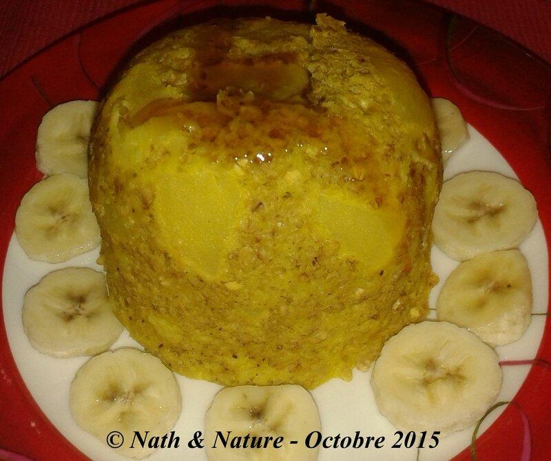 Bowl cake pomme-vanille avec du sirop d'érable