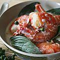 Curry vert de crevettes (à la pâte curry maison)