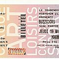 Buzzcocks - jeudi 19 mars - trabendo (paris)