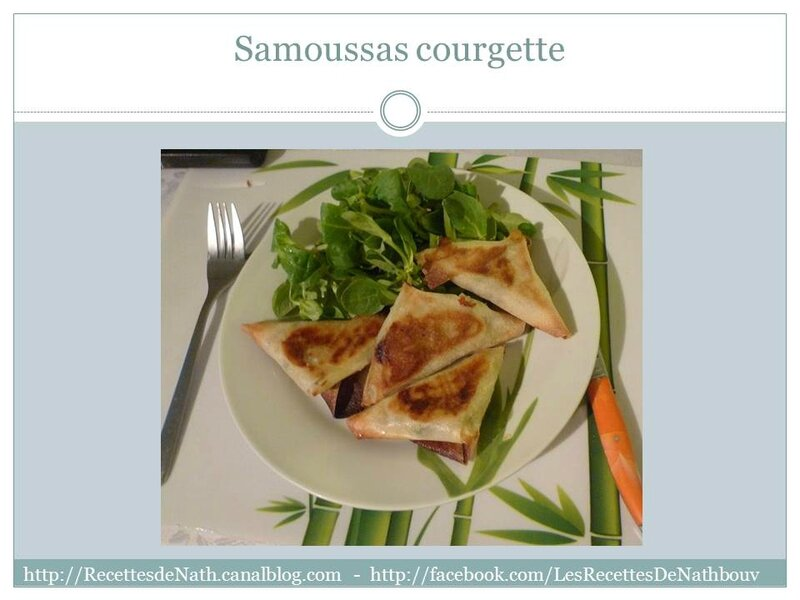 Diapositive 29 samoussas courgette