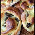 Petits pains raisins-crème pâtissière