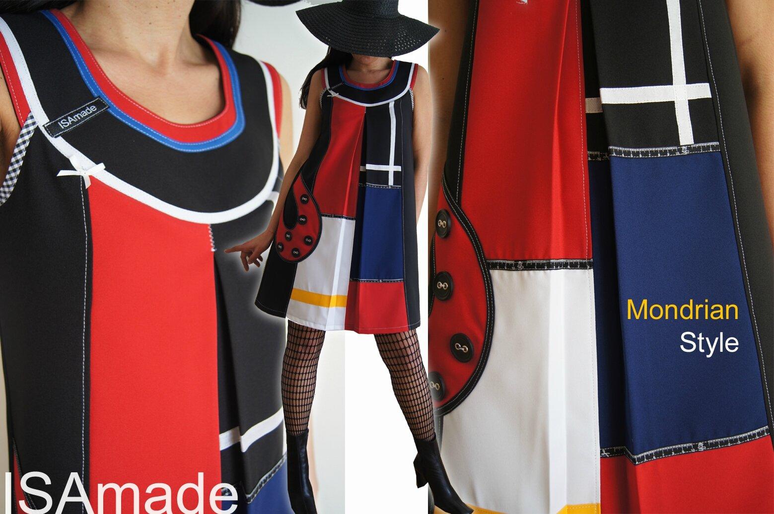 Robe graphique de style Mondrian réactualisée façon ISAmade