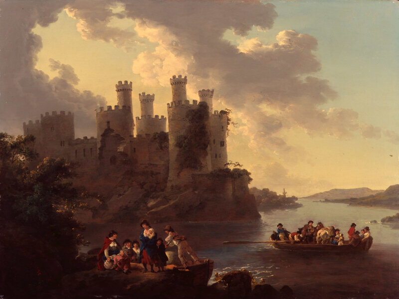 Mitchell-John-Mitchell-Fine-Paintings-Julius-Caesar-Ibbetson-1759-1817-Conway-Castle-1798-LAW19W-3
