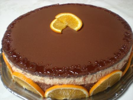 Entremet chocolat/orange/cointreau