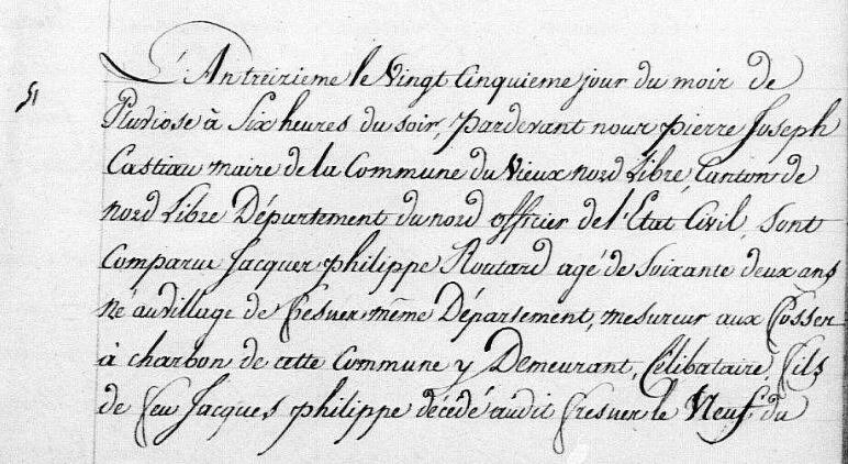 1805, an XIII, Vieux Conde, Mariage, Routart, Jacques Philippe, Armegny, Marie Catherine 1