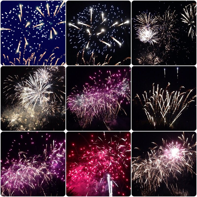 Montage feu d'artifice